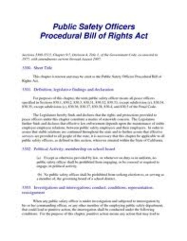 California Public Safety Act