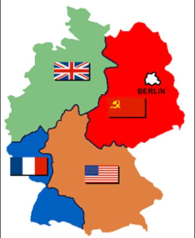 Alemania dividida en 4