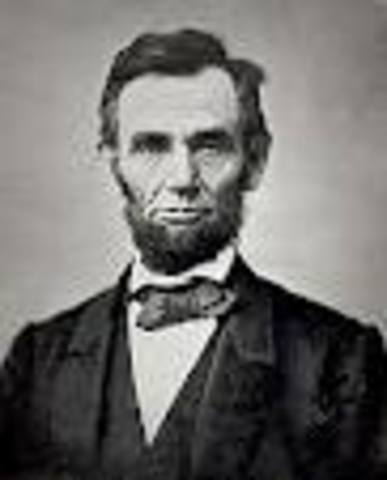 Lincoln is elected for president.