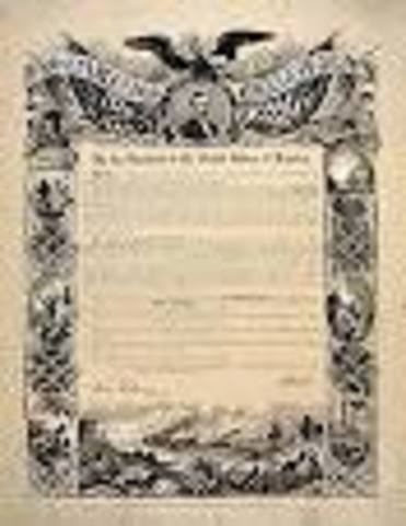 Lincoln issues the Emancipation Proclamation