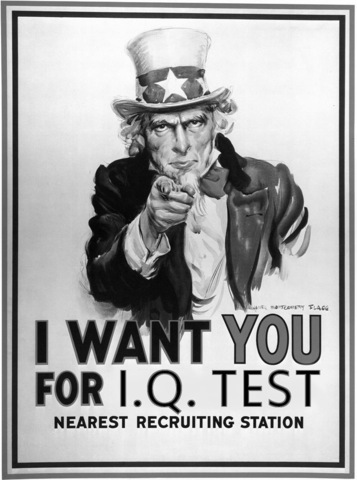 Intelligence testing is used during WWI in the US army