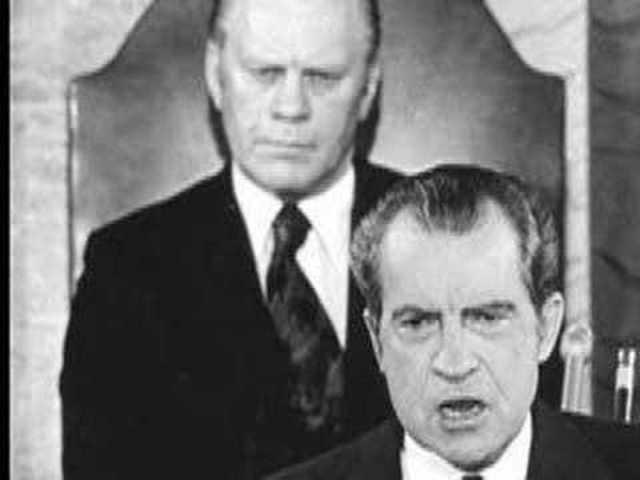 President Nixon Pardoned Gerald Ford saves him