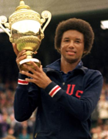 Ashe Wins Wimbledon