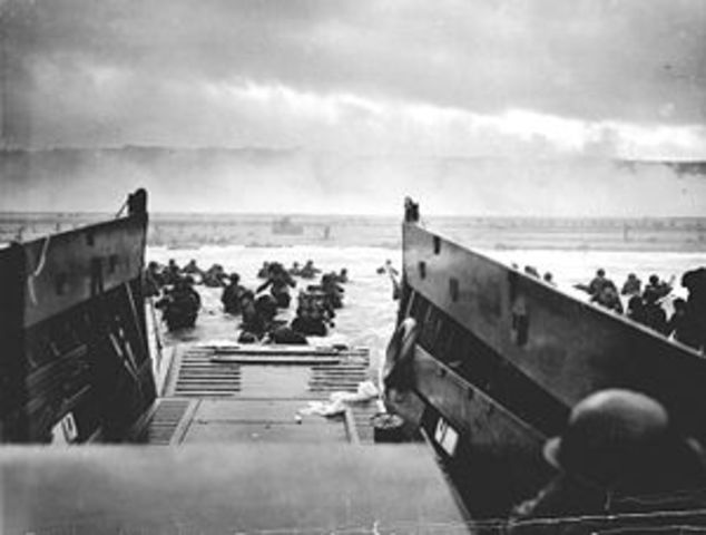 D-Day allied invasion at Normandy