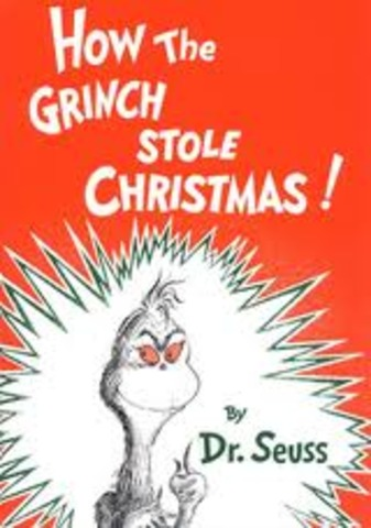 Dr. Suess writes How The Grinch Stole Christmas