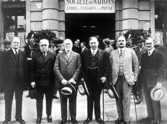First meeting of League of Nations