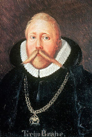 Tycho Brahe proposes a system that combines aspects of both the COpeernican and Ptolemaic models, with the sun revolving around the Earth and the other planets orbiting the sun.