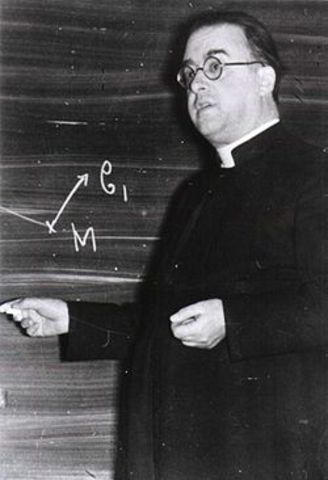 Georges Lemaitre presents an early version of the big-bang theory based on the theory of relativity.
