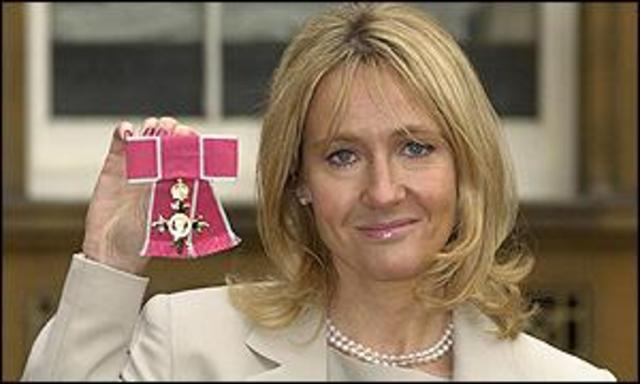 Rowling rewarded OBE.