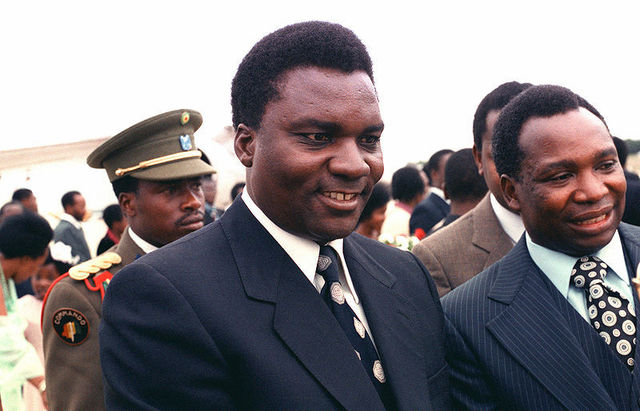 Juvenal Habyarimana takes control in a bloodless coup