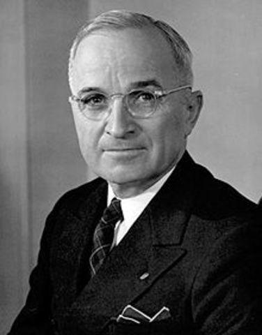 Harry Truman  becomes president