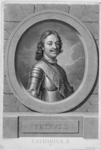 Peter the Great of Russia Begins his reign