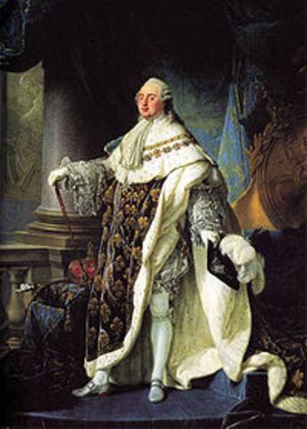 Louis the XVI starts his reign