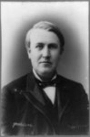 Edison invents incadenscent light bulb