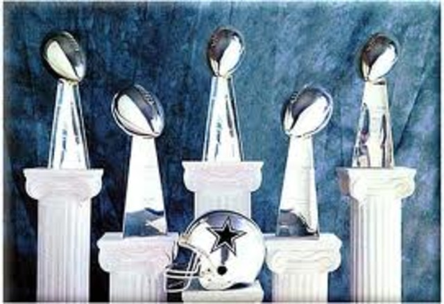 Dallas Cowboys super bowls trophies