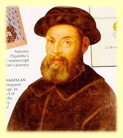 Magellan voyages to South America (dies)