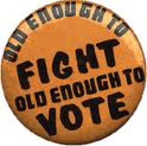 26th Amendment , 18 year olds given the right to vote
