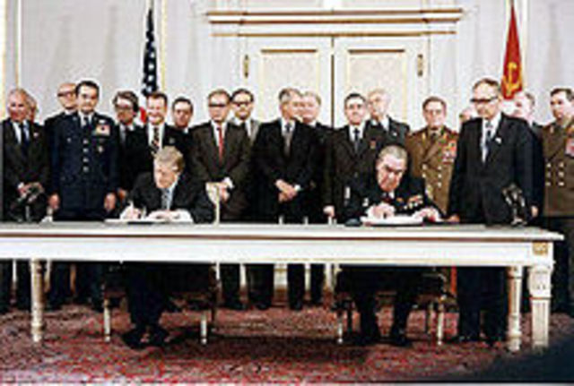 U.S signs the SALT II treaty