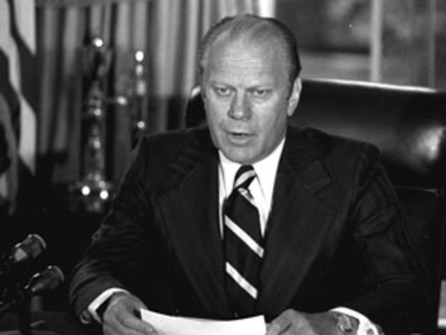 Gerald Ford Pardons Nixon