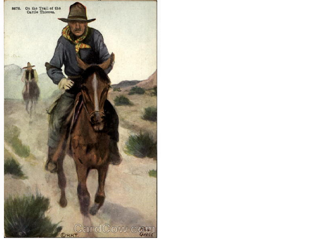 Mr.Meeker is captured by cow-boys (cattle theives)