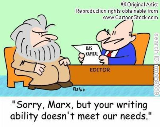 Karl Marx publishes Das Kapital .