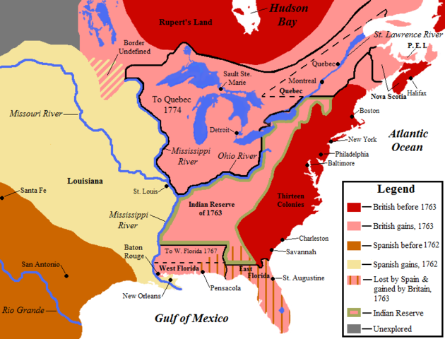 Britain defeated France in North America