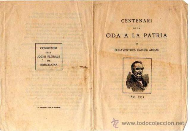 Publicació de l'Oda a la Pàtria
