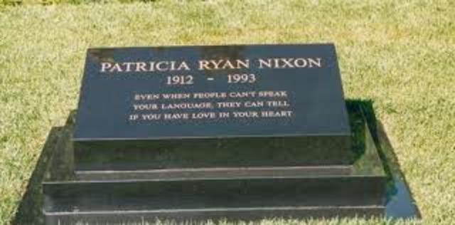 Pat Nixon's Death
