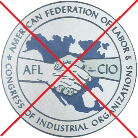 CIO breaks from the AF of L