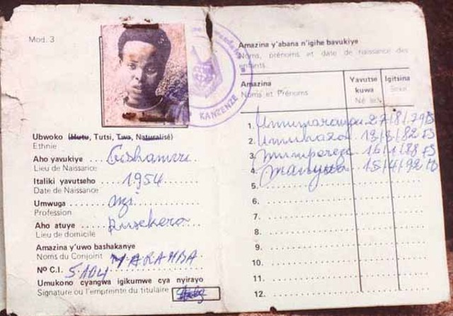 Racial ID cards