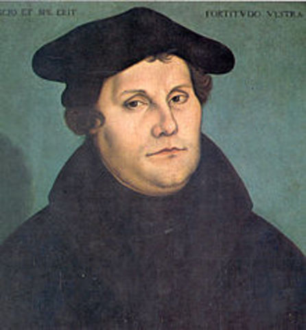 Martin Luther Publishes 95 Theses