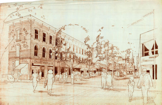 Church Street Became a Pedestrian Mall