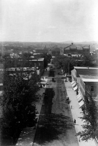 View of Church Street from Unitarian Church