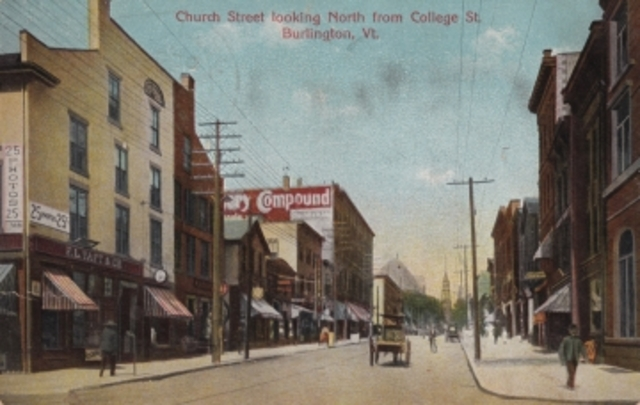 Colored Photograph of Church Street from College Street