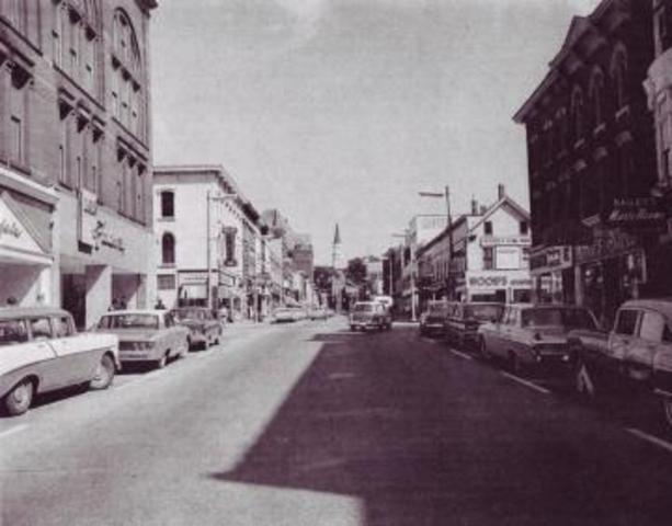 View of Church Street in 1950