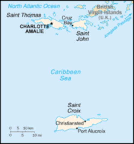 Purchase of St. Croix, St. John and St. Thomas