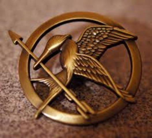 Cinna Gives Katniss the Mokayingjay Pin -mm5624