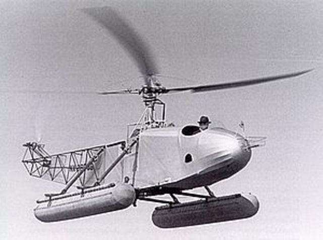 Der erste Hubschrauberflug