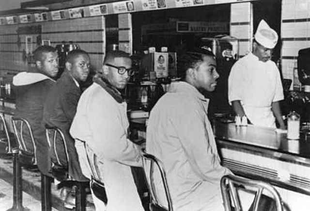 """Black students """"sit in"""""""