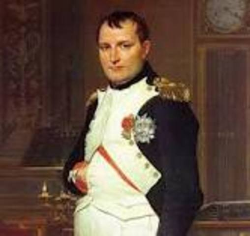 Napoleon Bonaparte born in Ajaccio, Corsica