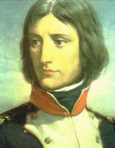 For his courage at an internal French battle at Toulon, Napoleon receives the new rank of brigadier general