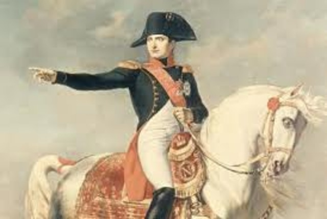 Royalist 13 Vendémiaire rising put down by Napoleon. Barras helps Napoleon win promotion to Commander of the Interior