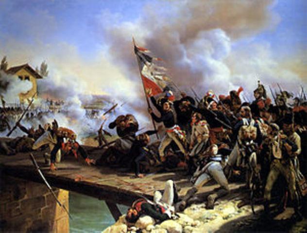 Napoleon wins the Battle of Arcole