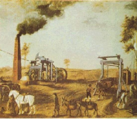 Inicia la primera fase de la revolución industrial en Inglaterra (etapa experimentación)