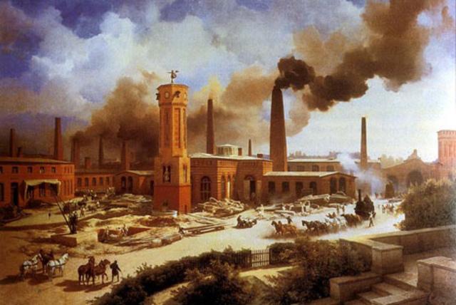 Culminación de la primera fase de revolución industrial e inicio de la segunda fase de esta, con la revolución de los transportes y las comunicaciones.