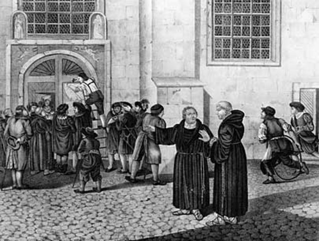 Martin Luther makes his 95 theses.