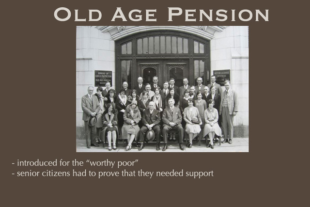 Old - age Pension Introduced