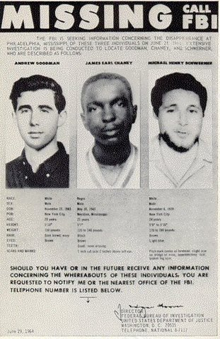Civil Rights Workers Abducted by KKK