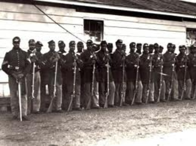 President Abraham Lincoln Allows Blacks to Join the Military