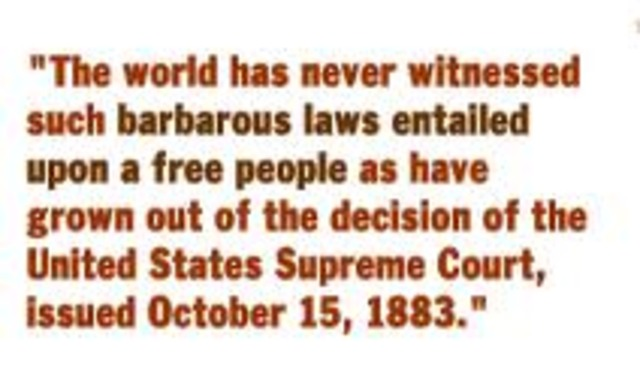 Civil Rights Act of 1875 Unconstitutional